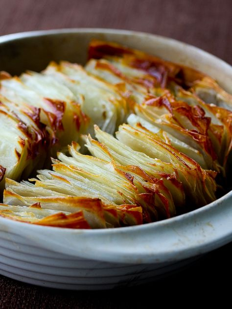 domino potatoes with butter and sea salt