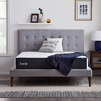 Lucid 10 Inch 2020 Gel Memory Foam Mattress Medium Plush Feel Certipur Us Certified Hypoallergenic Bamboo Charco In 2020 Gel Foam Mattress Foam Mattress Mattress