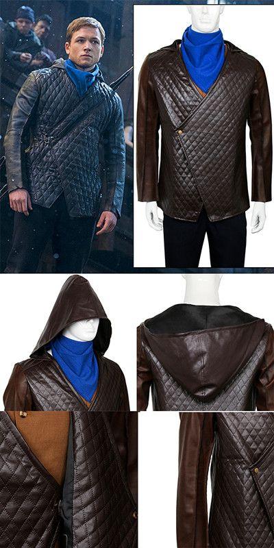 2018 Movie Robin Hood Cosplay Costume Jacket Halloween Adult Men Coat Outfit