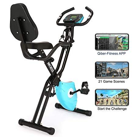 Ancheer 2 In1 Folding Exercise Bike Slim Cycle Indoor Stationary