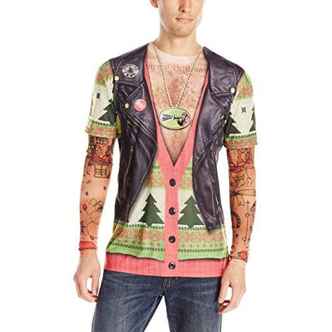 X-Mas sweater with tattoos T-shirt gifts for men ,gifts for boyfriend