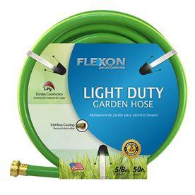 Flexon 5 8 In X 50 Ft Light Garden Hose From Lowes Garden Hose