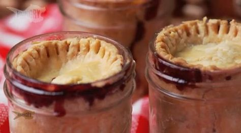 Fabulous Cherry Pie In a Jar  / A perfect way to give a gift, is to whip up something sweet. When you make that sweet thing in a canning jar, it adds a whole other dimension of cuteness.