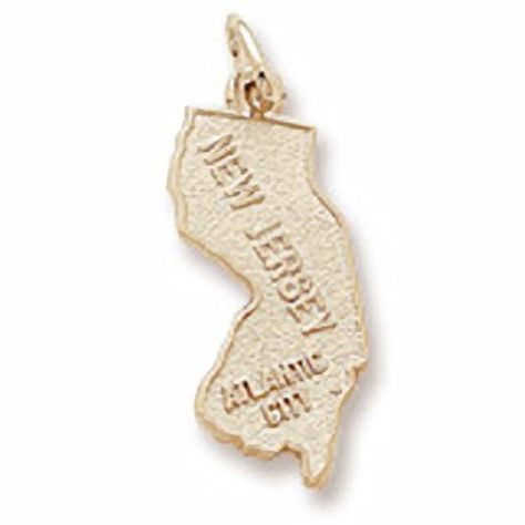 10k Yellow Gold Christmas Charm Charms for Bracelets and Necklaces