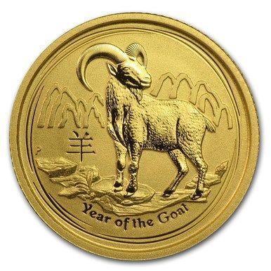 """2015 1 OZ .999 FINE SILVER /""""LUNAR YEAR OF THE GOAT/"""" BU AUSTRALIAN  PERTH MINT."""