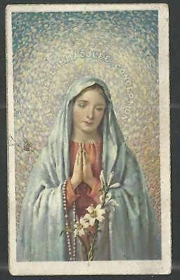 Holy card antique de la Virgin estampa image pieuse santino andachtsbild