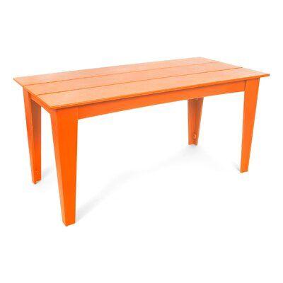 Loll Designs Alfresco Plastic Dining Table Color Sunset Orange