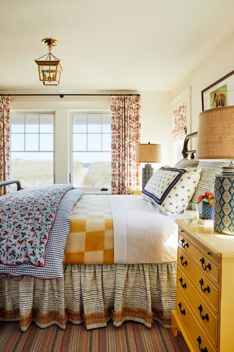 Mediterranean Home Interior A Colorful Maine Beach House by Katie Rosenfeld.Mediterranean Home Interior A Colorful Maine Beach House by Katie Rosenfeld New England Homes, New Homes, Home Bedroom, Bedroom Decor, Bedroom Signs, Decorating Bedrooms, Master Bedrooms, Cottage Bedrooms, Bedroom Ideas