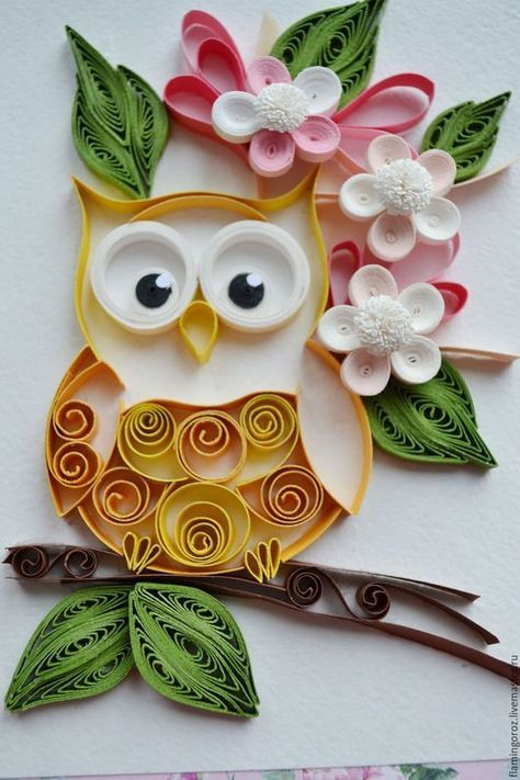 owl owl / #owl #QuilledPaperArtpattern