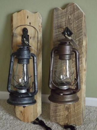 Christmas Decorations Are Marked By The Attractiveness Of Standard Accents That Electric Lanterns Lantern Table Lamp Wood Christmas Decorations