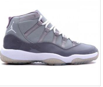 378037 001 air jordan retro 11 (xi) cool grey medium grey white cool
