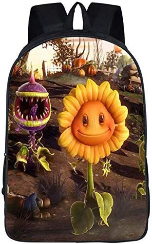 Plants VS Zombies 100/% Genuine Leather Backpack Free Personalization Choose Background Color