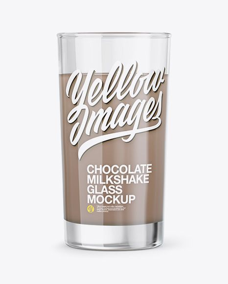 Glass With Chocolate Milkshake Mockup In Cup Bowl Mockups On Yellow Images Object Mockups Mockup Free Psd Free Psd Mockups Templates Chocolate Milkshake