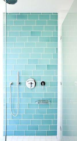 Aqua Bathroom Tiles Aqua Glass Subway Tile Bath Wall And Surround For Kids Bathroom Run Vertically Aqua Colou Blue Shower Tile Aqua Bathroom Bathroom Wall Tile