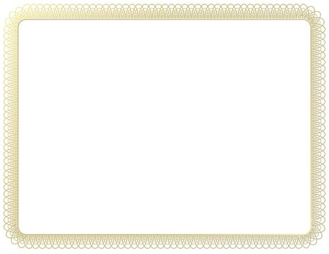 gold frame border Certificate Border by Arvin61r58 Graphic - certificate border template free