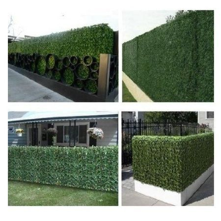 E Joy 24 Piece Artificial Topiary Hedge Plant Privacy Fence Screen Greenery Panels Suitable For Both Ou In 2020 Outdoor Privacy Privacy Fence Screen Artificial Topiary