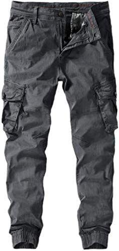 CYJ-shiba Mens Casual Cargo Pants Multi Pocket Harem Pants Camo Work Pants