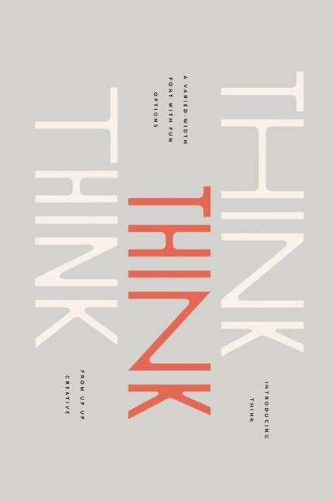 Think Sans - A Varied-Width Font
