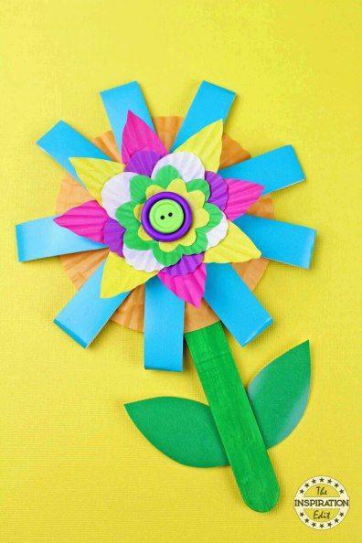 Paper Cup Flower Craft Kids Will Love Flower Crafts Kids Crafts