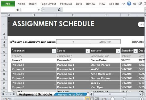 Free Assignment Template Excel Templates Pinterest Template - assignment template word