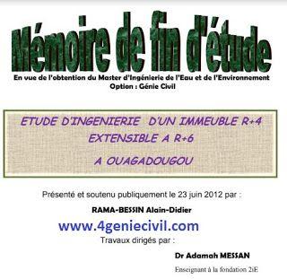 Memoire De Fin D Etude Pour Batiment En R 6 Cours Genie Civil Outils Livres Exercices Et Videos Genie Civil Cours Genie Civil Etude