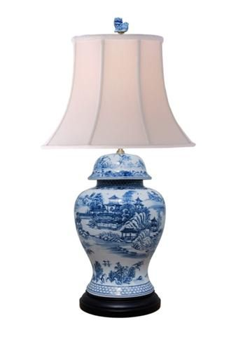 Jar Table Lamp, Blue Willow Table Lamps