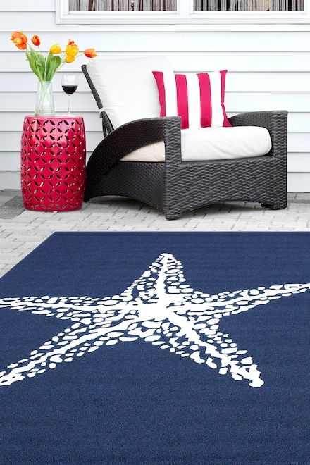 Hacienda Starfish Indoor Outdoor Navy Rug Rugs Rugs Usa Indoor Outdoor Area Rugs