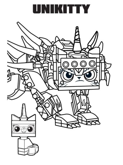 Coloring Page Lego Movie 2 Unikitty Kleurplaten Lego Ideeen Lego
