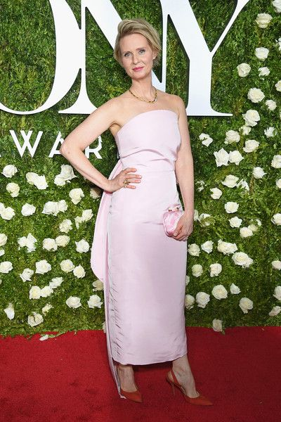 Cynthia Nixon attends the 2017 Tony Awards at Radio City Music Hall.