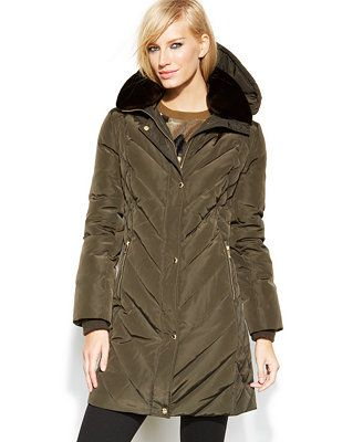 d6a0a1748b82 MICHAEL Michael Kors Faux-Fur Hooded Quilted Down Puffer Coat
