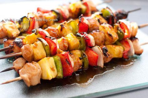 Grilled Chicken Teriyaki Kebobs
