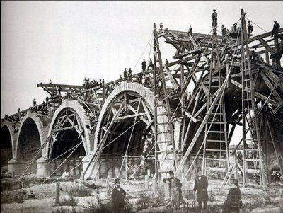 Madrid - Construcción del Puente de Los Franceses (1960)