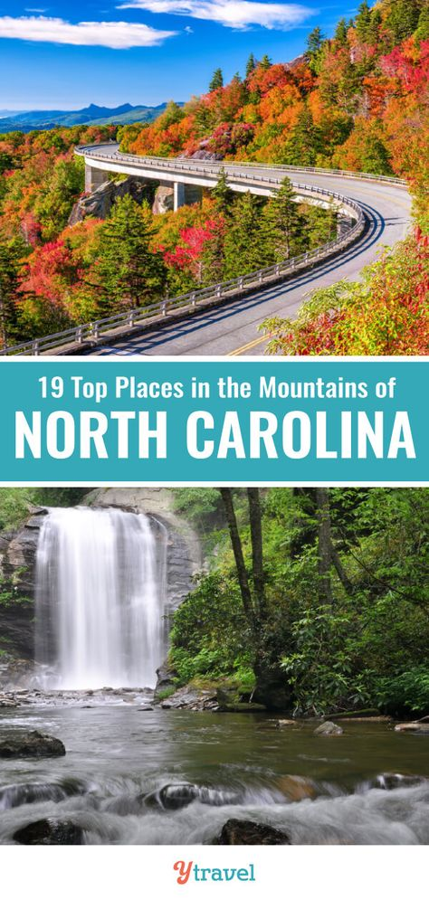 Planning to visit North Carolina, here are 19 of the best places to go in the North Carolina mountains including Asheville, the Great Smoky Mountains National Park, Blue Ridge Parkway and many more. Don't take any North Carolina road trips to the mountains vacation before learning about these North Carolina vacation spots. #NorthCarolina #NC #roadtrips #mountains #familytravel #vacations