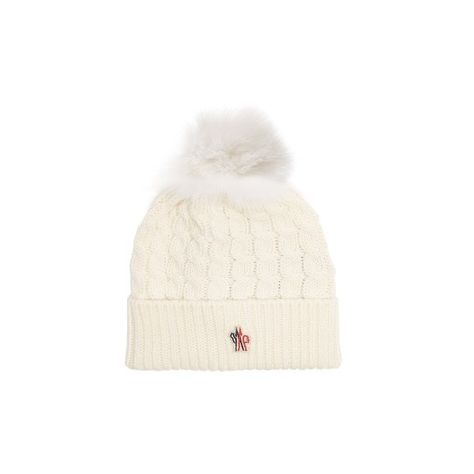 9a732bd3 Moncler Grenoble Fur-pompom wool beanie hat ($192) ❤ liked on ...