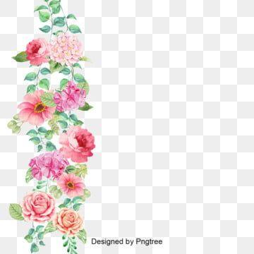 Lindas Flores E Pintando O Flor Guirlanda Borgonha Imagem Png E Psd Para Download Gratuito Flower Border Flower Border Clipart Flower Border Png