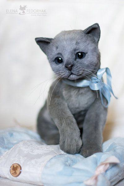 Kitten Oliver By Elena Fedoryak Felt Animals Kittens Animals