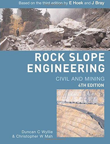 Rock Slope Engineering Fourth Edition By Duncan C Wyllie Https
