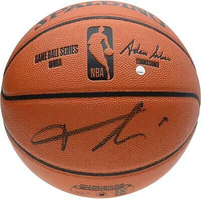 Frank Ntilikina New York Knicks Autographed Spalding Indoor/Outdoor Basketball #sportsmemorabilia #autograph #basketball