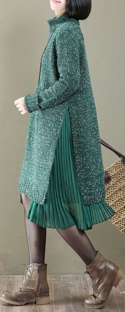 c95087a846 warm green pleated patchwork sweater dress oversize long knit sweaters  knit  sweaterdress sweaterdress omychic