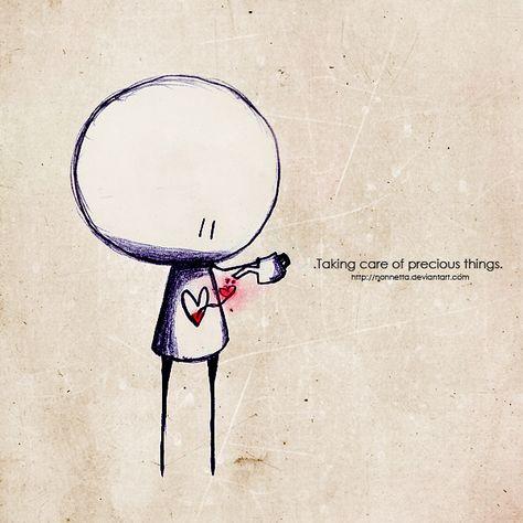 taking care of precious things (via deviantart)