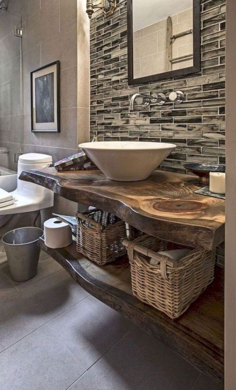 31+ Awesome Rustic Bathroom Ideas for Upgrade Your House -  31+ Awesome Rustic Bathroom Ideas for Upgrade Your House #bathroomideas #bathroomdesign #bathroomre - #apartmentdecor #awesome #balcony #bathroom #bathroomideas #bedcanopy #bohodecor #home #house #ideas #kitchentiles #laundryroom #poollandscaping #rustic #upgrade #vintagekitchen