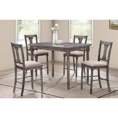 Ophelia Co Vanzandt 5 Piece Counter Height Dining Set Solid