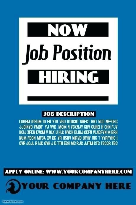 Now Hiring Flyer Templates Help Wanted Ad Template Luxury