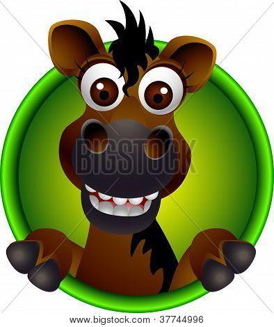Vector Ilustration Of Cute Horse Head Cartoon Poster Id 37744996 Cartoon Posters Cute Horses Animal Doodles