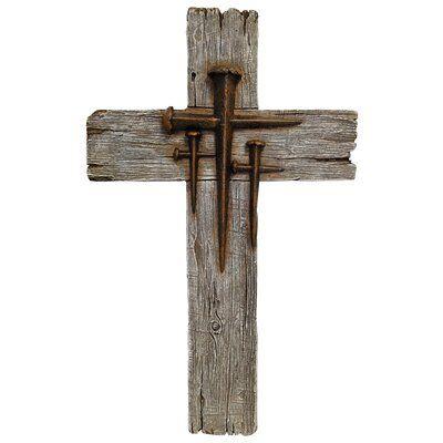 Compass Wall Decor, Cross Wall Decor, Tree Wall Decor, Metal Wall Decor, Wooden Cross Crafts, Wooden Crosses, Wall Crosses, Wood Crafts, Rustic Cross