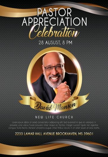 pastor appreciation celebration flyer