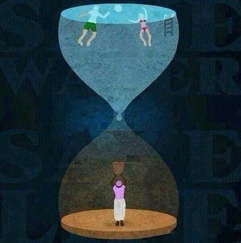 #Hourglass depicting the gap between the rich & the #poor. #Reality #Word #SpotOn