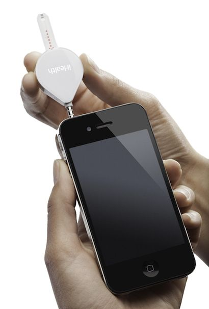 iHealth to launch smaller glucometer, drop test strip price - Picture iHealth Align - Device with iPhone
