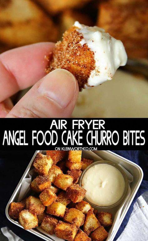 Air Fryer Recipes Dessert, Air Fryer Recipes Appetizers, Air Fryer Oven Recipes, Air Frier Recipes, Churros, Churro Bites, Cooks Air Fryer, Air Fried Food, Caramel