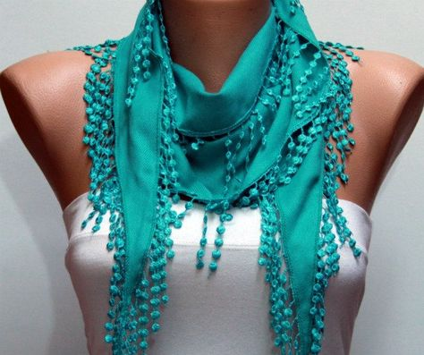 I ordered a different one from her...I'm obsessed!!!  Teal Scarf    Pashmina Scarf   Headband Necklace Cowl by fatwoman, $13.50